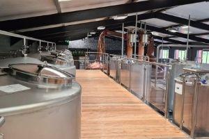 Image of the inside of Irish American whiskey distillery
